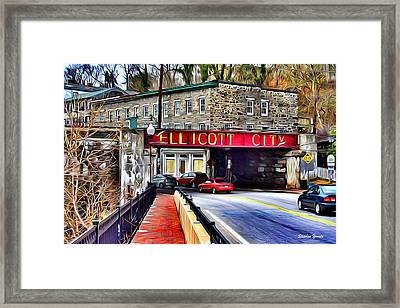 Ellicott City Framed Print by Stephen Younts