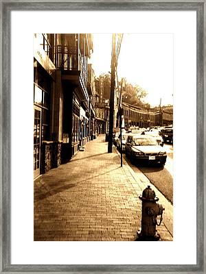 Ellicott City Street Framed Print
