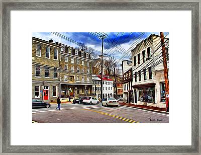 Ellicott City Streets Framed Print by Stephen Younts