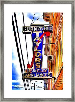 Ellicott City Taylor's Sign Framed Print