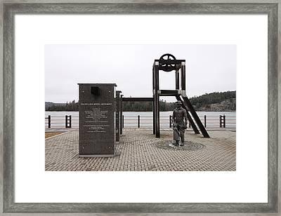 Elliot Lake Mining Monument Framed Print by Richard Mitchell