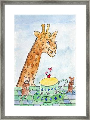 Elliott And Penelope Have Tea Framed Print