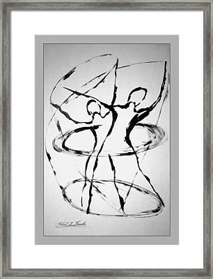 Elliptical Dervishes Framed Print by Robert Kernodle