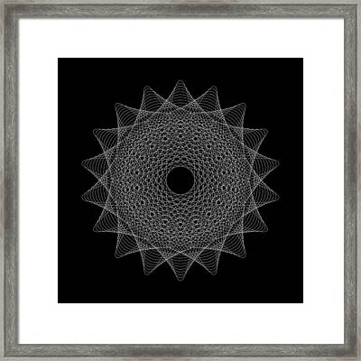 Elliptical Mesh IIik Framed Print