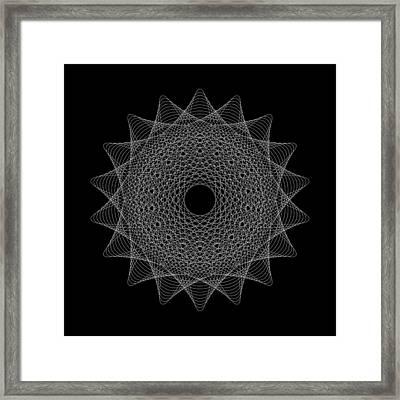 Elliptical Mesh IIik Framed Print by Robert Krawczyk
