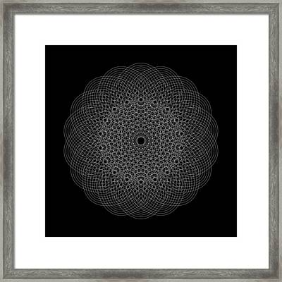 Elliptical Mesh IIk Framed Print