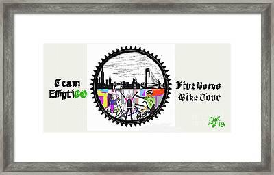 elliptiGO meets the 5 boros bike tour Framed Print