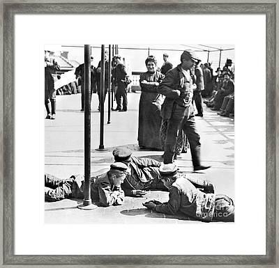 Ellis Island: Immigrants Framed Print