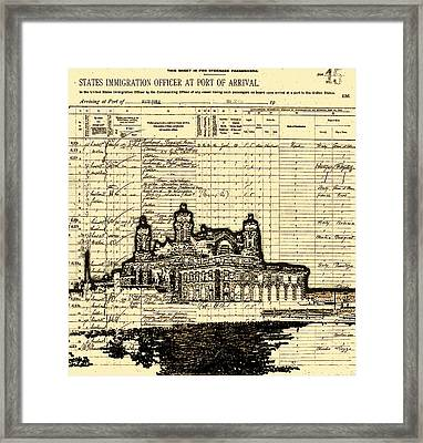 Ellis Island Framed Print by Jeff DOttavio