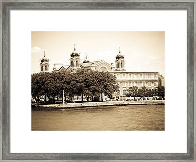 Ellis Island Framed Print
