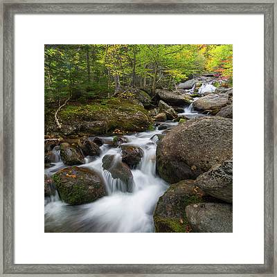 Ellis River New Hampshire Square Framed Print by Bill Wakeley
