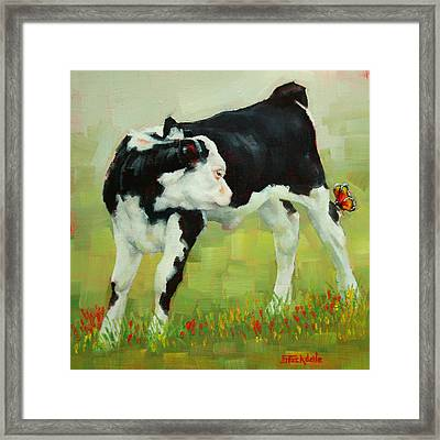 Elly The Calf And Friend Framed Print