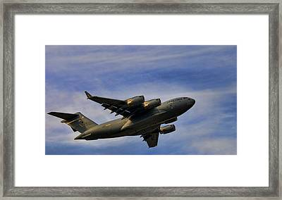 Elmendorf Third Wing Framed Print by Steven Richardson
