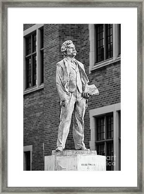 Elmira College Mark Twain Statue Framed Print by University Icons