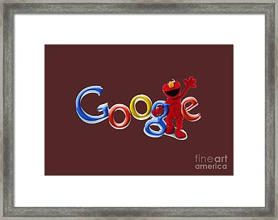 Elmo Google T-shirt Framed Print