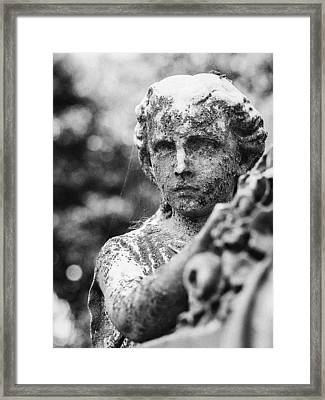 Elmwood Cemetery - Cassie Hill Bw Framed Print by Jon Woodhams