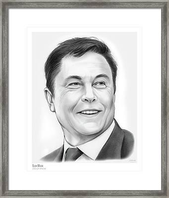 Elon Musk Framed Print