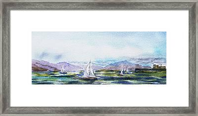 Elongated Seascape Painting Framed Print by Irina Sztukowski