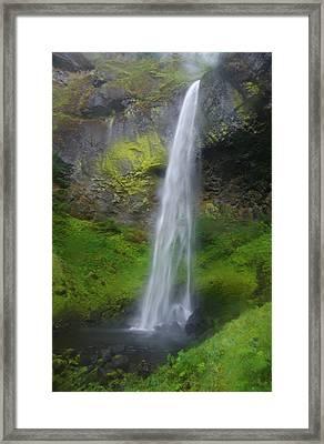 Elowah Falls Framed Print by Loree Johnson