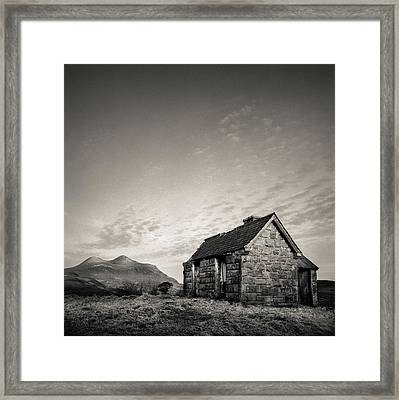Elphin Bothy Framed Print by Dave Bowman