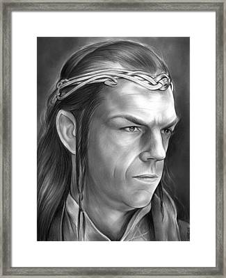 Elrond Framed Print by Greg Joens