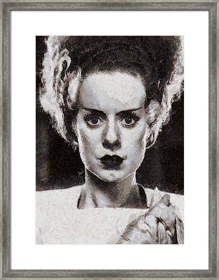 Elsa Lanchester Bride Of Frenkenstein Framed Print by John Springfield