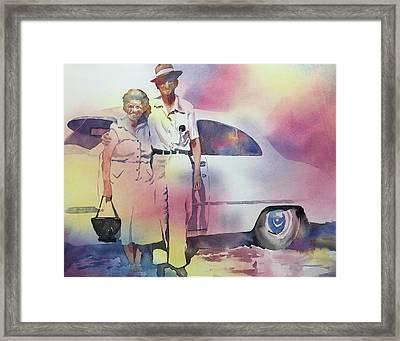 Elsie And Barney Shields Framed Print