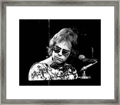 Elton John 1970 #2 Framed Print by Chris Walter