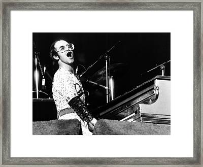 Elton John 1975 Dodger Stadium Framed Print by Chris Walter