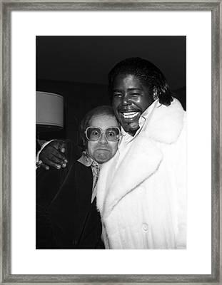Elton John And Barry White Framed Print by James Fortune
