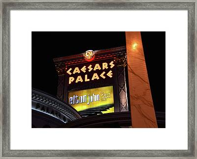 Elton John At Caesars Palace 2011 2018 Framed Print