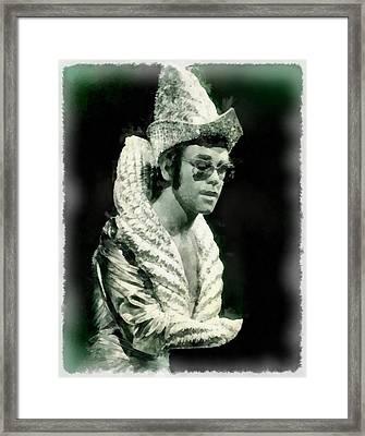 Elton John By John Springfield Framed Print by John Springfield