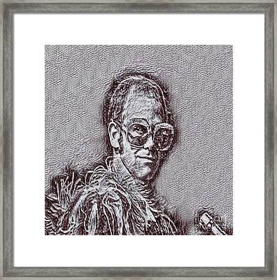 Elton John Drawing Framed Print