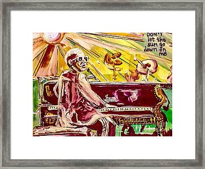 Elton Framed Print by Paula Baker