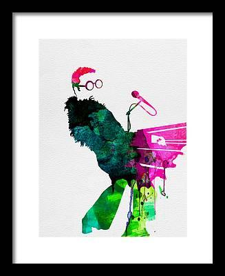 Elton John Rock Music Framed Prints