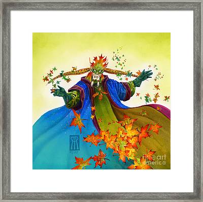 Elven Mage Framed Print by Melissa A Benson