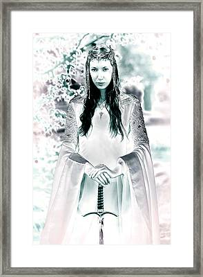 Elven Princess Framed Print by Dean Bertoncelj