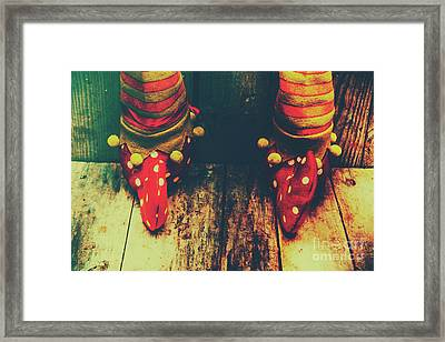 Elves And Feet Framed Print