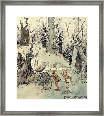 Elves In A Wood Framed Print