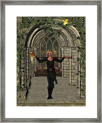 Elvin Hallway Framed Print