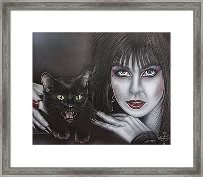 Elvira And Her Cat Framed Print by Jonathan Anderson