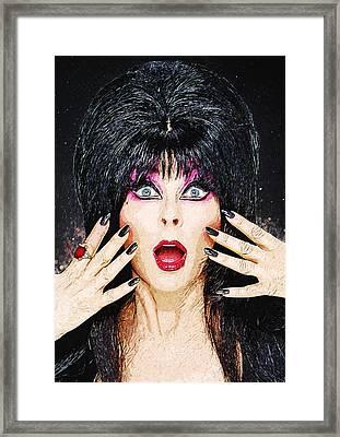 Elvira - Mistress Of The Dark Framed Print by Taylan Apukovska