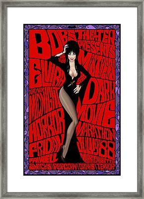 Elvira's Midnight Movie Marathon Framed Print