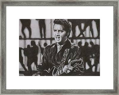 Elvis - 68 Comeback Framed Print by Mike OConnell