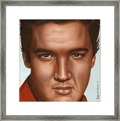 Elvis 24 1958 Framed Print by Rob De Vries