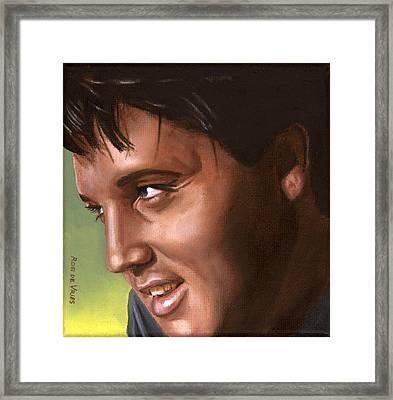 Elvis 24 1966 Framed Print by Rob De Vries