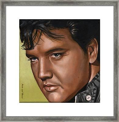 Elvis 24 1967 Framed Print by Rob De Vries