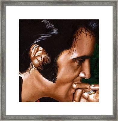 Elvis 24 1969 Framed Print by Rob De Vries