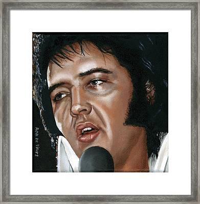 Elvis 24 1975 Framed Print by Rob De Vries