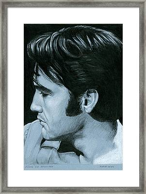 Elvis 68 Revisited Framed Print